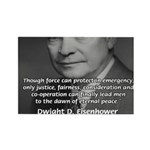 Peace and Justice Eisenhower Rectangle Magnet