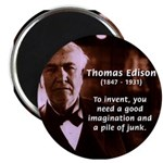 "Imagination Thomas Edison 2.25"" Magnet (100 pack)"