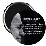 "Inventor Thomas Edison 2.25"" Magnet (100 pack)"