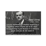 Paul Dirac Quantum Theory Rectangle Magnet (10 pac