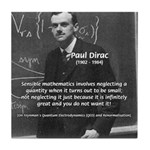 Paul Dirac Quantum Theory Tile Coaster