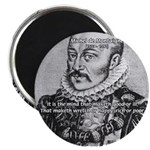 "Power of Mind: Montaigne 2.25"" Magnet (10 pack)"