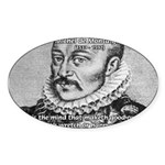 Power of Mind: Montaigne Oval Sticker