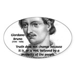 Freedom of Thought Bruno Oval Sticker