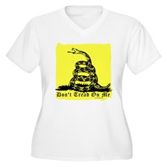 Don't Tread On Me Gadsden Women's Plus Size V-Neck