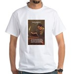 French Poets Baudelaire White T-Shirt