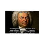 Glory God Music J. S. Bach Rectangle Magnet