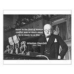 World War II Churchill Small Poster