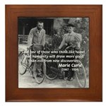 Marie & Pierre Curie Good Evil Framed Tile