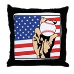 American Baseball Throw Pillow