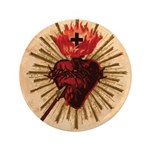 "Heart of Jesus 3.5"" Button (100 pack)"