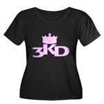 3 Kings Day Women's Plus Size Scoop Neck Dark T-Sh