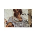 Aristotle Education Quote Rectangle Magnet (10 pac