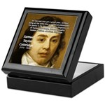 Samuel Taylor Coleridge Poet Keepsake Box