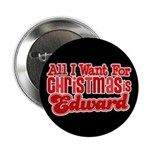 Edward Christmas 2.25&quot; Button (10 pack)