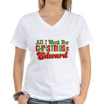 Christmas Edward Women's V-Neck T-Shirt
