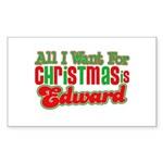 Christmas Edward Rectangle Sticker