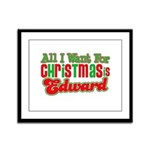 Christmas Edward Framed Panel Print