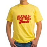 Christmas Jacob Yellow T-Shirt