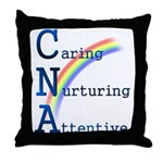 CNA Rainbow Throw Pillow
