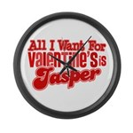 Jasper Valentine Large Wall Clock