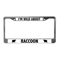 Raccoon License Plate Frames