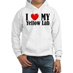 I Love My Yellow Lab Hooded Sweatshirt