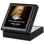 Thomas Hobbes Truth Keepsake Box