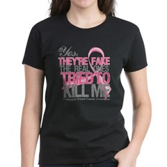 Fake 2 - Breast Cancer Women's Dark T-Shirt
