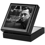 Albert Camus Motivational Keepsake Box