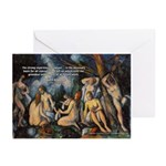 Cezanne Landscape Nude Greeting Cards (Package of