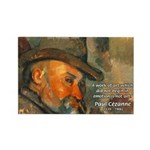 Cezanne Emotion Artistic Quote Rectangle Magnet (1