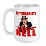 """No Virgins In Hell"" Large Mug"
