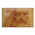 Wisdom Leonardo da Vinci Rectangle Sticker