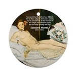 Impressionist Art Manet  Ornament (Round)
