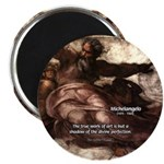 "Michelangelo Perfection Quote 2.25"" Magnet (100 pa"