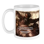 Michelangelo Perfection Quote Mug
