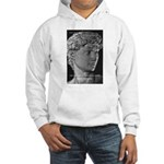 David with Michelangelo Quote Hooded Sweatshirt