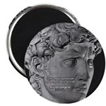 "David with Michelangelo Quote 2.25"" Magnet (10 pac"
