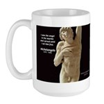 Michelangelo Angel in Sculpture Large Mug