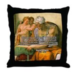 Michelangelo Art Philosophy Throw Pillow