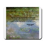Monet Painting: Beauty Quote Mousepad