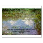 Monet Painting: Beauty Quote Small Poster
