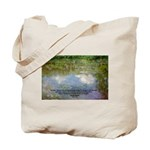 Monet Painting: Beauty Quote Tote Bag