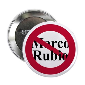 Red Slash through Marco Rubio liberal Senate pin