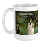 Berthe Morisot Art Quote Large Mug
