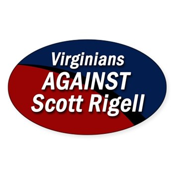 Virginians Against Scott Rigell bumper sticker