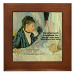 Female Artist Morisot Quote Framed Tile