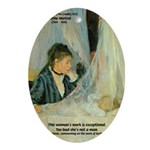 Female Artist Morisot Quote Oval Ornament