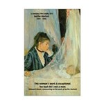 Female Artist Morisot Quote Mini Poster Print
